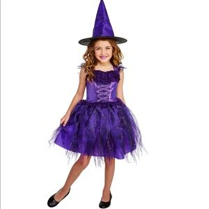 Amethyst Witch Girls Deluxe Halloween Costume New